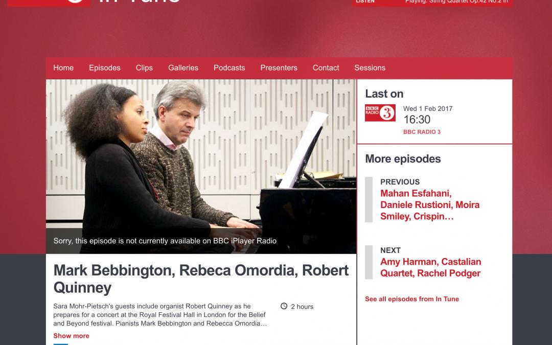 BBC Radio 3 InTune
